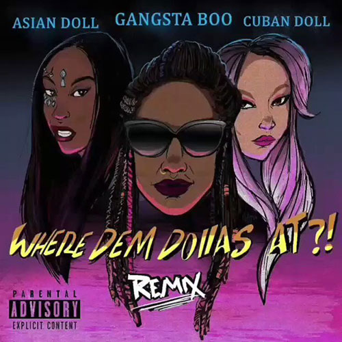 Gangsta Boo - Where Dem Dollas At?! Remix (2018)